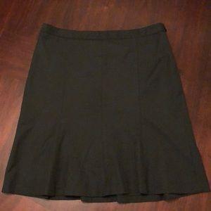 LOFT Ann Taylor Black A-Line Skirt 10P